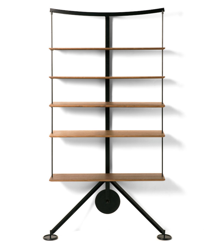 Ran Library self supporting shelves by Carlo Forcolini re-issued by Stellar Works