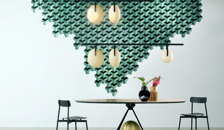 Arte Helix capiz shell wall tiles