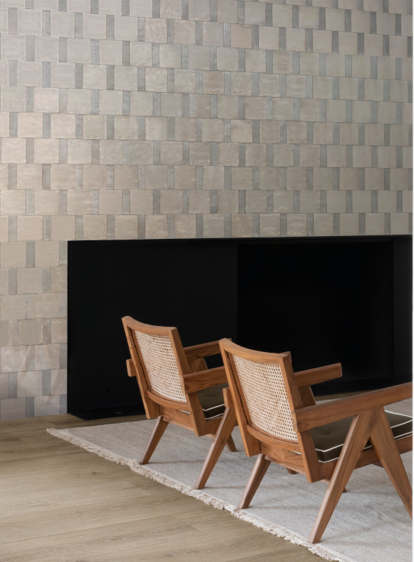 Natural and grey Qualis Rice tiles from Lapicida