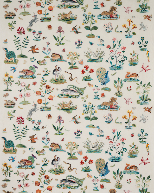Royal Silk Embroidery from Schumacher