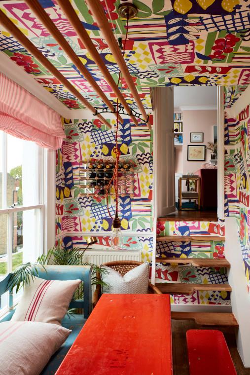 Cath Beckett's dining room Yellow London