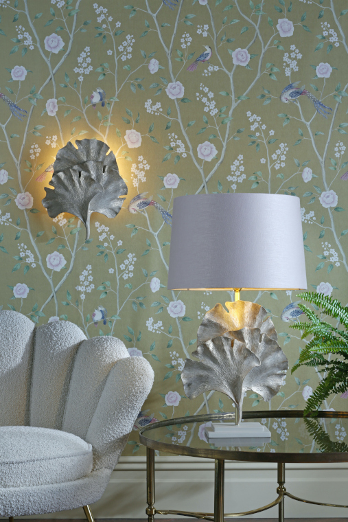 Ginkgo table and wall light from David Hunt