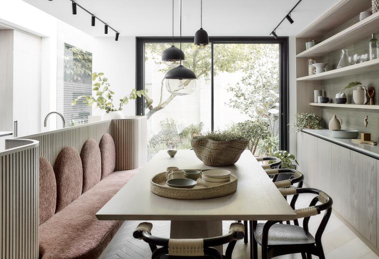 Kitchen in mid-century modern home