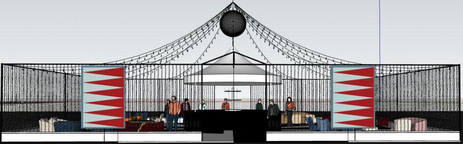 Sara Cosgrove's design for the Decorex bar